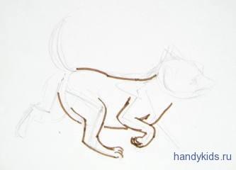Этапы рисования лисёнка