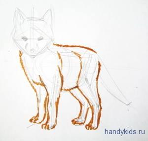 Как рисовать лисёнка