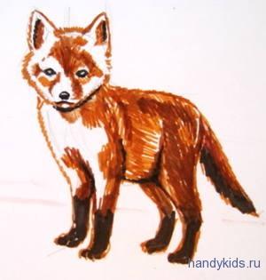 Рисунок лисёнок