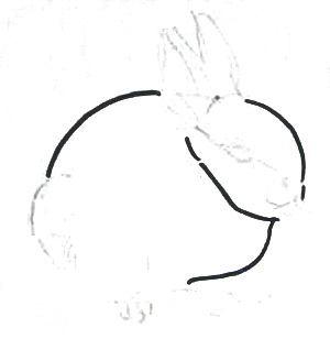 Рисуем зайчонка