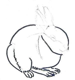 Урок поэтапного рисования зайчика