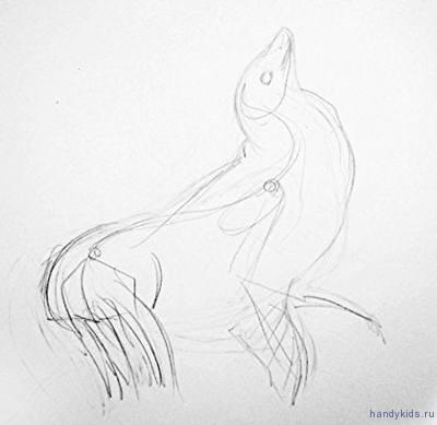 Морской лев рисунок
