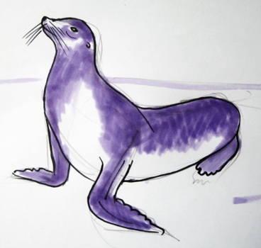 Рисунок -морской лев