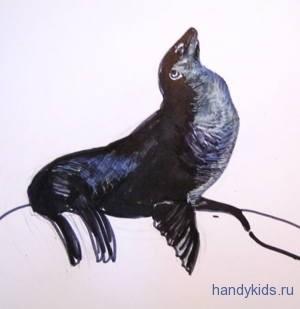 Рисунок морской лев