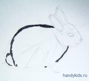 Как нарисовать зайчонка поэтапно