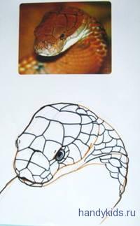 Голова змеи рисунок
