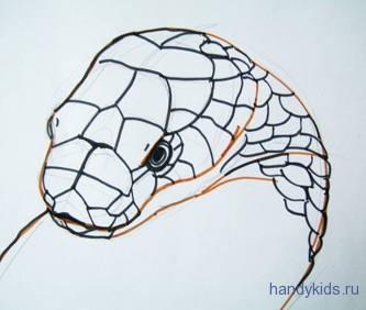 Рисунок -голова кобры