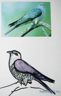 Рисунок кукушка