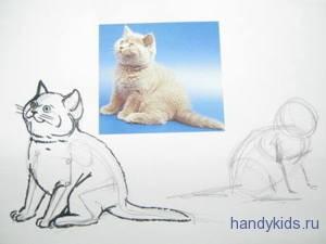 Как рисовать котёнка