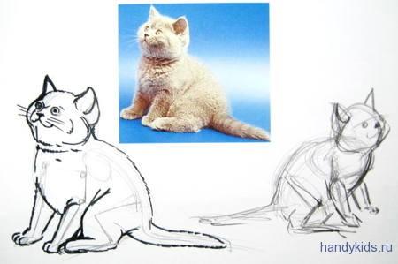 Котёнок рисунок