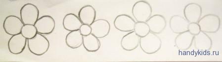 Раскраска цветочки