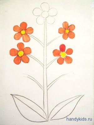 Аппликация цветы
