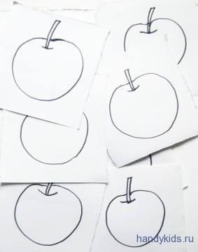 Раскраски яблоки