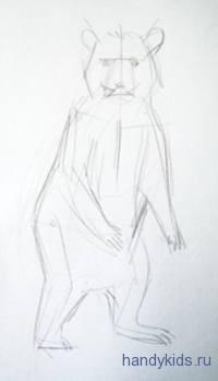 НКак нарисовать медвежонка карандашом