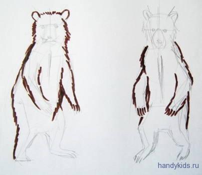 Как рисовать медвежат