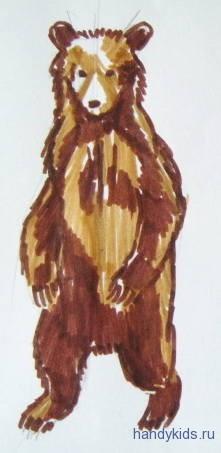 Рисунок медвежонок