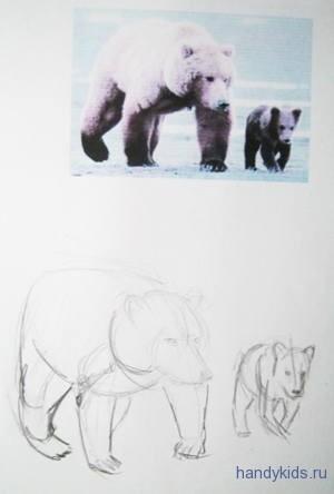 Как рисовать мишку косолапого