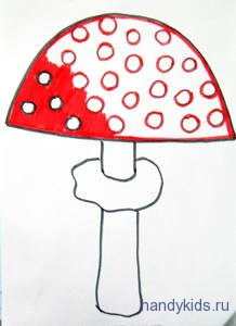 Как раскрасить шляпку мухомора