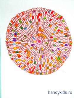 Раскрасим раскраску георгин