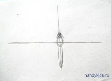 Этапы рисования бабочки