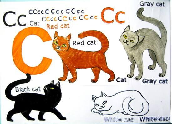 Раскраски на тему Letter C