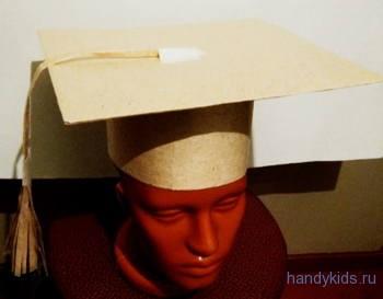 Как сделать шапочку выпускника из бумаги