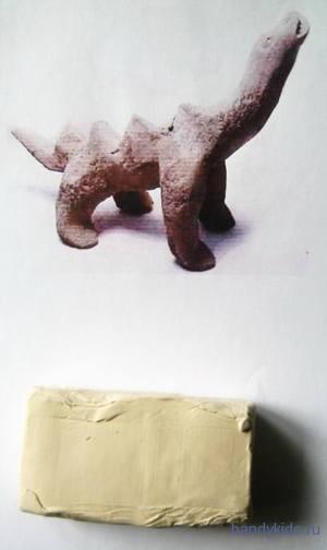 Лепка -динозавр из пластилина