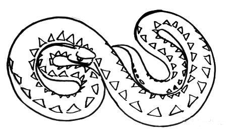 Рисунок Змея гадюка