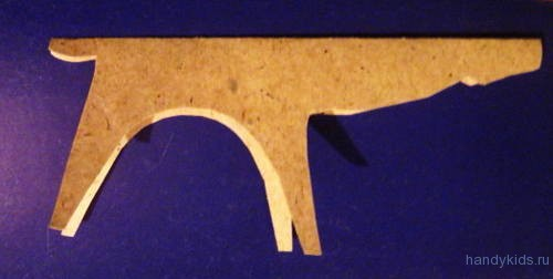 Выкройка для изготовления оленя из бумаги