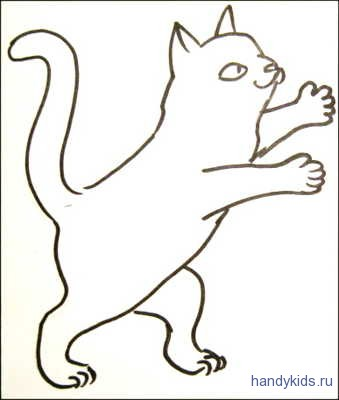 Раскраска Котёнок