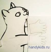 рисуем перчатки на просвет.
