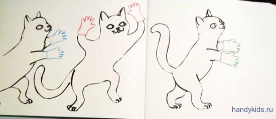 Котятки в перчатках