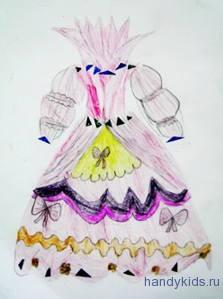 платье для Золушки -детская работа.