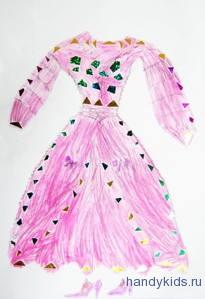 платье для принцессы-детская работа