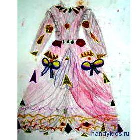 Рисунок -платье принцессы