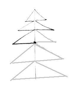 Ёлка из треугольников