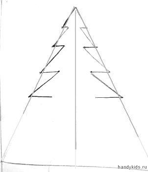 Как начертить геометрическую ёлку