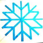 Аппликация  Снежинка