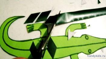 Как разрезать бумагу на ромбы