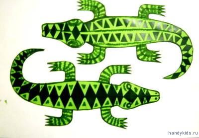 Аппликация Крокодилы