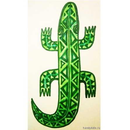 Рисунок Крокодил