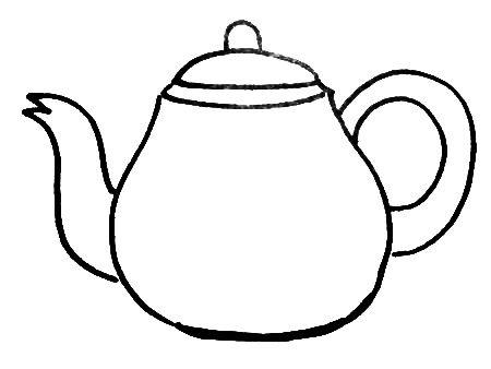 Раскраска Чайник