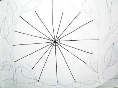 Рисунок паутина -этап 3