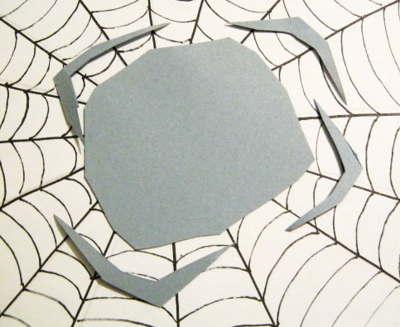 Вырезание лап для аппликации паук