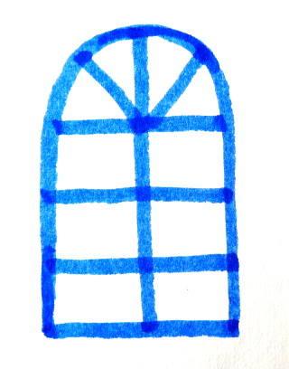 Раскраска Окно