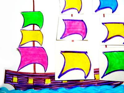 Аппликация Парусный Корабль