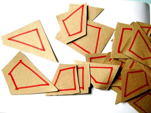 Шаблоны геометрических фигур для для аппликации.