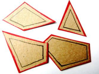 Начертим рамки по периметру геометрических фигур.