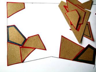 Выполнение геометрической аппликации.Ход работы при складывании аппликации из геометрических фигур.