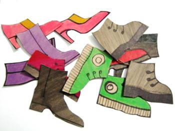 Вырезание Обувь.